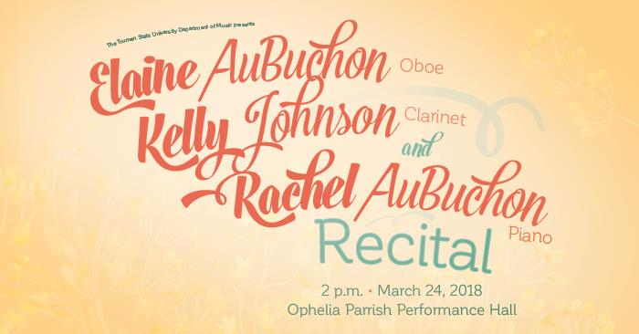 Oboe, Clarinet and Piano Performers Collaborate for Recital