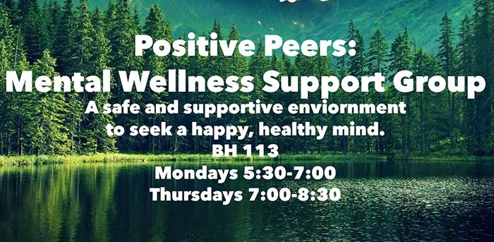Mental Wellness Support Group to Meet Mondays and Thursdays