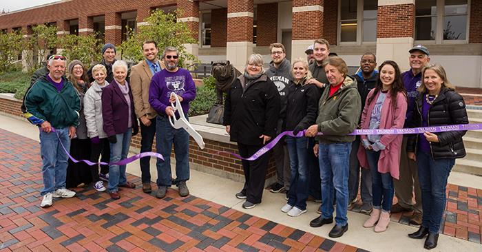 Library Patio Named for Longtime Employee