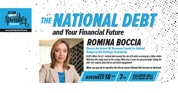 Speaker to Discuss National Debt