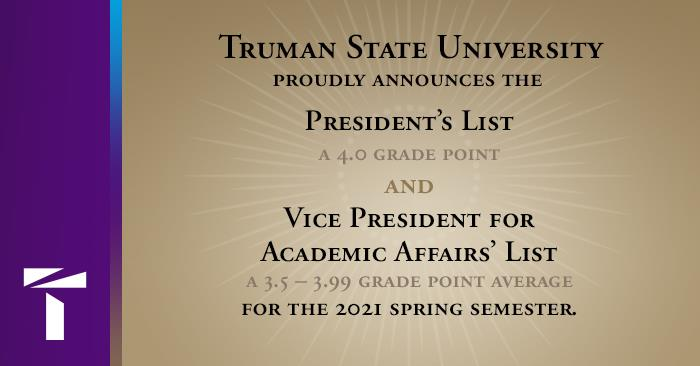 Academic Honor Rolls Announced