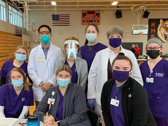 Nursing Students Support Vaccine Clinics
