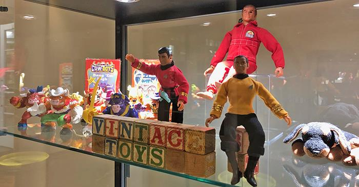Vintage Toys Among New Library Exhibits